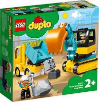 10931 LEGO Duplo Truck & Tracked Excavator Constuction Set 20 Pieces Age 2+