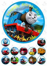 Thomas The Tank Engine 19cm PERSONALISED Edible Cake topper +12 cupcake toppers