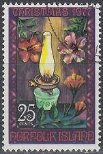 Norfolk 1977 fine used Mi.203 Weihnachten Christmas Öllampe Oil lamp [sq6289]
