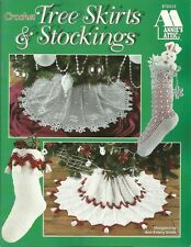 Crochet Tree Skirts & Stockings Ann Emery Smith Christmas Patterns NEW