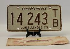 1979 Illinois License Plate Business Trailer Single Plate