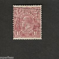 Australia SC #115 Θ used Three Half Pence stamp