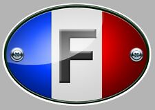 STICKER OVALE AUTOCOLLANT BLASON FRANCE DRAPEAU FLAG AUTO MOTO CAMION 12cm OA017