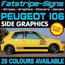 PEUGEOT 106 GRAPHICS STRIPES DECALS STICKERS GTI PUG 1.0 1.1 1.3 1.4 1.5 1.6 D