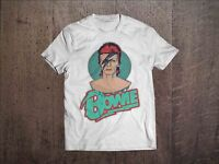 David Bowie Men White T-shirt Rock Tee Shirt Ziggy Stardust Sizes S M L XL XXL 3
