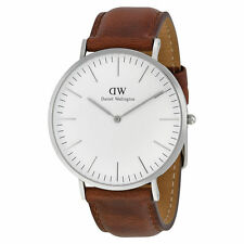 Daniel Wellington Mens Classic St Mawes 40mm Silver 0207DW Watch - 15 off