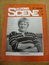 27/01/1974 programma Rugby League: Salford V St. Helens (piegato). l'oggetto sembra