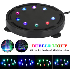 New listing Aquarium Underwater Led Light Air Bubble Stone Colorful For Fish Tank Round Lamp