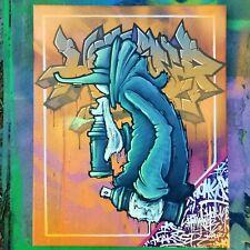 GRAFFITI CHARACTER PAINTING ON CANVAS ORIGINAL SPRAY PAINT ACRYLIC STUDY HOAKSER