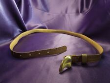 EMMANUEL Genuine Reptile Leather Belt w/ Tooth Shaped Buckle