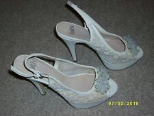 Ladies Sling Back Beige Shoes Size 6 from Faith