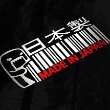 Made in japan domo kun jdm voiture van fenêtre pare-chocs décalque autocollant drift jap euro