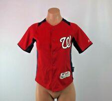 73319f9ef Washington NATIONALS Button Up Baseball Jersey YOUTH SZ S/M Majestic Cool  Base