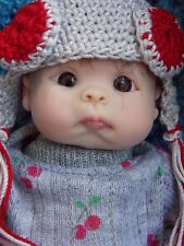 """Tiny OOAK 7"""" Handsculpted Polymer Clay Baby Doll Resell"""