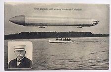 Zeppelin Postcard Germany  Count Zeppelin and his Dirigible Airship portrait