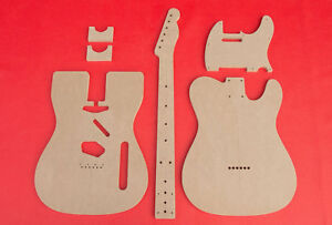 """Telecaster Guitar Router Template Set Body wVintage Router Hump CNC 1/2"""" MDF"""