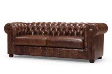 Chesterfield Sofa Couch Polster 3 Sitz Garnitur Leder Textil Sofas Neu