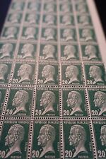 FEUILLE SHEET TIMBRE PASTEUR N°172 x40 1923/1926 NEUF ** LUXE MNH COTE 228€