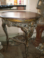 EARLY VICTORIAN 1850c CAST IRON PUB TABLE,GARDEN ,ARCHITECTURAL RECLAMATION