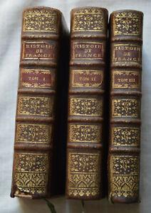 1741 Histoire de France Composée par M. Chalons 3 Vol complet Chez mariette