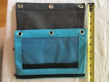 Zippered Binder Pencil Pouch Rivet Enforced Hole School Pen Case Storage Bag