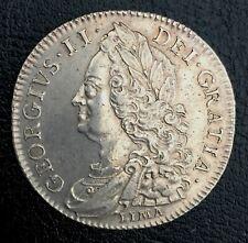 More details for 1746 george ii halfcrown d, nono, lima below bust. ef