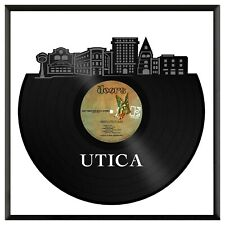 Utica New York Vinyl Wall Art Cityscape Office Home Room Decoration with Frame