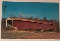 Vintage INDIANA postcard Jeffries Ford Bridge Burr Truss Parke County IN 1960's