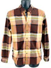New listing Oakley Icon Mens Oxford Shirt Brown Glen Check Plaid Long Sleeve Slim Fit S 9
