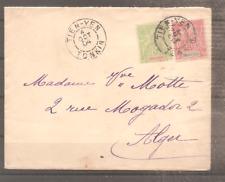 LETTRE INDOCHINE FRANCE COLONIE 1904 OBLITERE USED TIEN YEN POUR ALGER