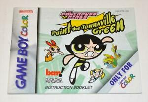 MANUAL ONLY Powerpuff Girls: Paint the Townsville Green Nintendo Gameboy Color