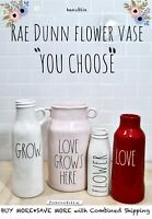 "Rae Dunn Flower Vase HOLD FLOWERS FARM FRESH STEMS Milk Jug ""YOU CHOOSE"" '19"