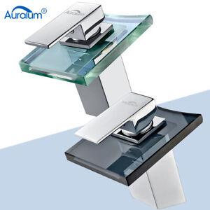 Waschtischarmatur Glas Waschbecken Wasserhahn Einhebelmischer Mischbatterie Bad