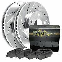 Fit 2010-2011 Ford Ranger Front Rear PSport Drill Slot Brake Rotors+Ceramic Pads