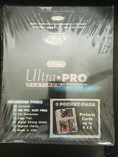 100 ULTRA PRO PLATINUM 3-POCKET Pages 4x6 Sheets Protectors Brand New in Box