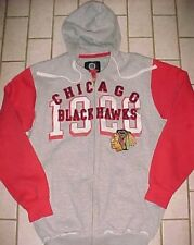 Chicago Blackhawks Logo Est. 1926 NHL Carl Banks G-III Gray Full Zipper Hoodie L
