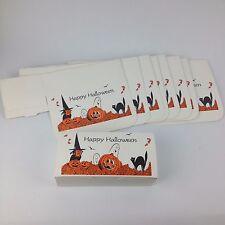 9 Pc Lot VTG Halloween Treat Box Favor Candy Witch JOL Cat Ghost Pumpkin Leaves