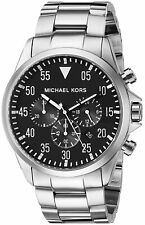 MK8413 Michael Kors Men's  Gage Chronograph Black Dial Stainless Steel Watch NEW