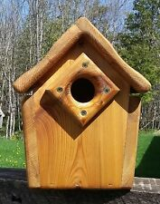 Cute decorative, handmade square Bluebird house, cedar wood, TBNUP  #1