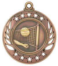 Bronze Volleyball Medal w/ FREE Ribbon-Low Ship #XM101