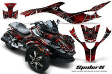CAN-AM BRP SPYDER RS GS GRAPHICS KIT CREATORX DECALS SPIDERX RED B