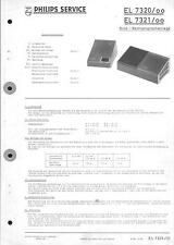 Philips Original Service Manual für EL 7320 / 7321
