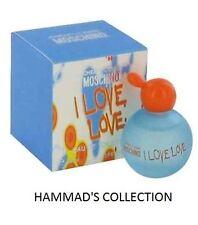 2 x I LOVE LOVE Moschino Cheap & Chic MINI 0.16/ 4.9 ML WOMEN EDT Perfume (NIB)