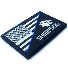 SHEEP DOG USA FLAG U.S. TACTICAL ARMY EMBROIDERED MORALE BADGE PATCH #02