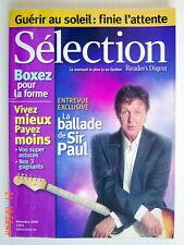 SÉLECTION DU READER'S DIGEST DE DÉCEMBRE 2005, EN COUVERTURE PAUL McCARTNEY