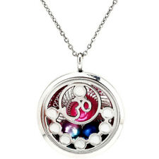 Cage Floating Pendant Charm Necklace K1204 Beads Locket Memory Yoga Om Pearl