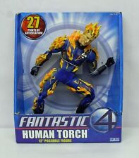 Fantastic Four Movie Human Torch Flame On 12 inch Figure ToyBiz NIP 4+ S146-5