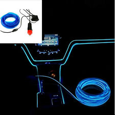 3M Blue Led Flexible EL Wire Neon Glow Light + 3V/12V Controller Party Decor Hot