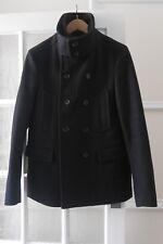 AllSaints Black Tailored Pea Coat UK 38 -Great!