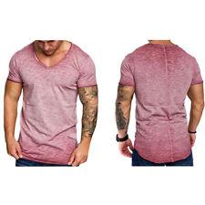 Homme T-Shirt Manche Court Rond Col Chemise Tee Top Hauts Été Décontractée Mode